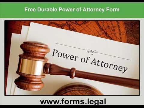 Power of Attorney Form - Legal Power of Attorney Forms